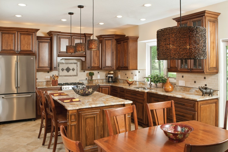 Choice cabinetry flintstone marble and granite for Choice kitchen cabinets