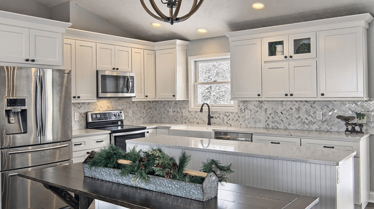 Riverrun Cabinetry Flintstone Marble And Granite